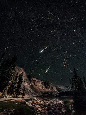 Snowy Range Perseids Meteor Shower, courtesy of David Kingman via a Creative Commons Licence